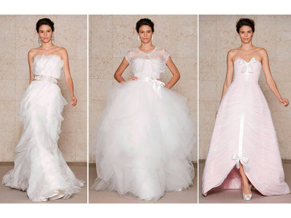 2011 Oscar de la Renta wedding dresses that scream romance