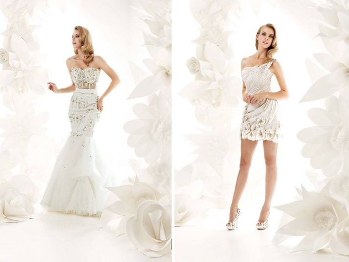 Glamourous 2011 wedding dresses by Simone Carvalli- beading, floral applique, lace embellishments