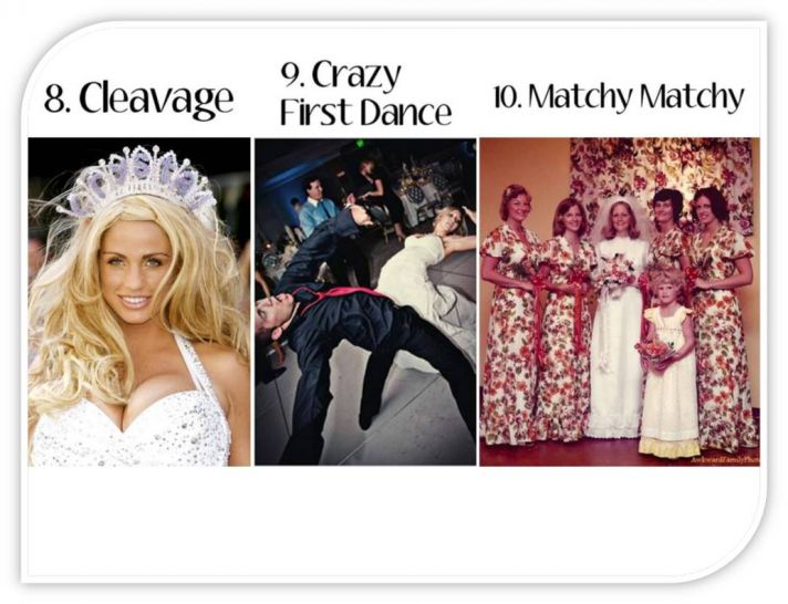 Cleavage, crazy first dances at the wedding reception, and matchy matchy bridesmaid style is OUT for