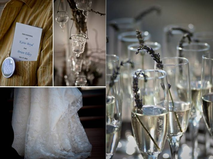 Chic wedding reception details- champagne toasting flutes with textured details