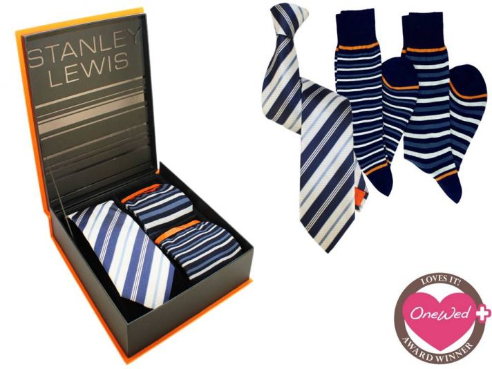 Luxury men's formal accessories, perfect for the groom, from Stanley Lewis