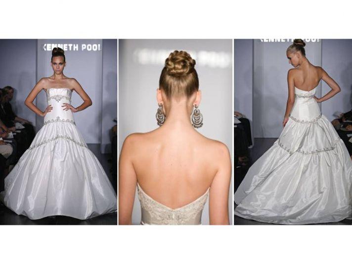 Sleek wedding hairstyle- high, braided chignon updo