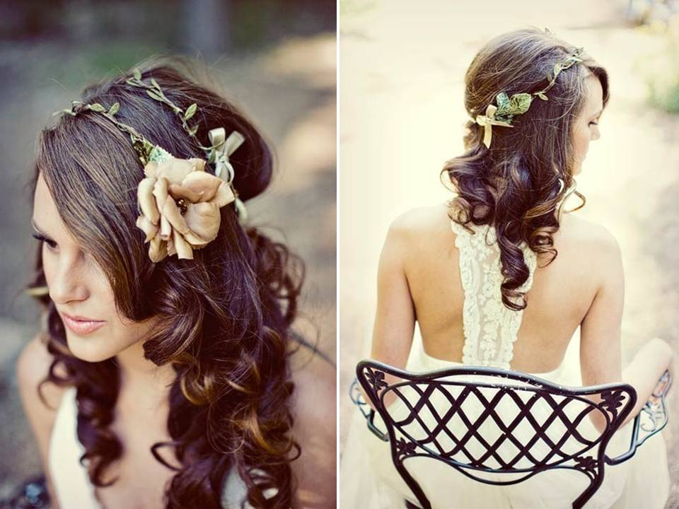 Casual Beach Wedding Hairstyles Mignonne By Mignonne Bridal Headpieces 2011 Wedding Trends Nature Girl