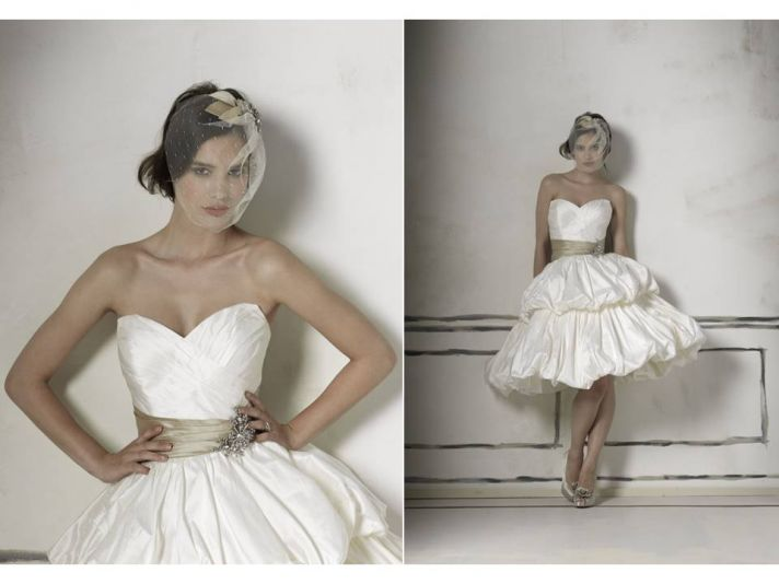 White sweetheart neckline cocktail dress for your wedding reception