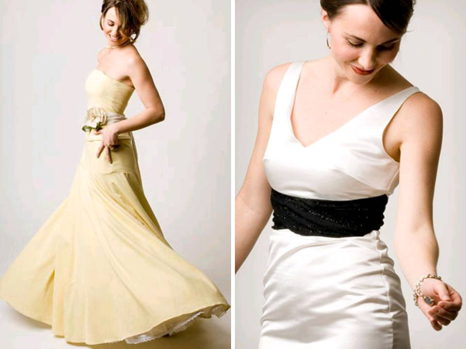 Deep beige aline strapless ecofriendly wedding dress ivory scoop neck