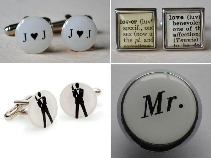 Custom wedding day cufflinks for your groom- win this week!