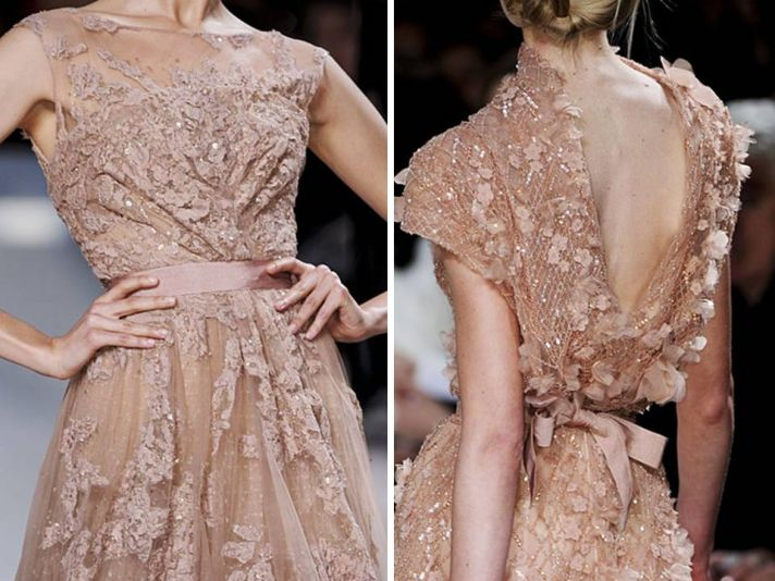 Elie saab dresses and details from paris haute couture for Elie saab blush wedding dress