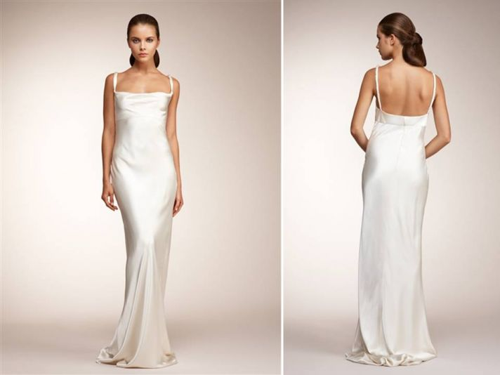 Classic a-line and modified mermaid Monique Lhuillier wedding dresses