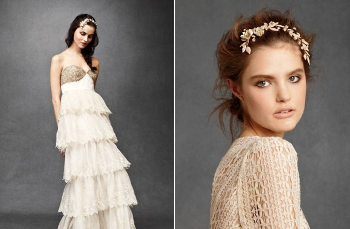 romantic-wedding-dress-anthropologie-ruffled-skirt-empire-bridal-headband