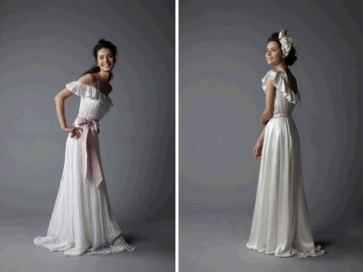 Stunning ivory 2011 wedding dresses with statement halter neckline