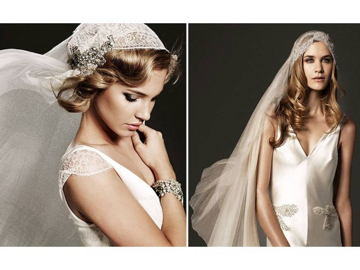 Romantic and vintage-inspired couture bridal veils