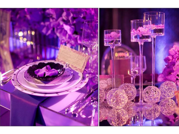 glamorous wedding reception decor tablescape using orchids - Cheap Wedding Reception Decorations
