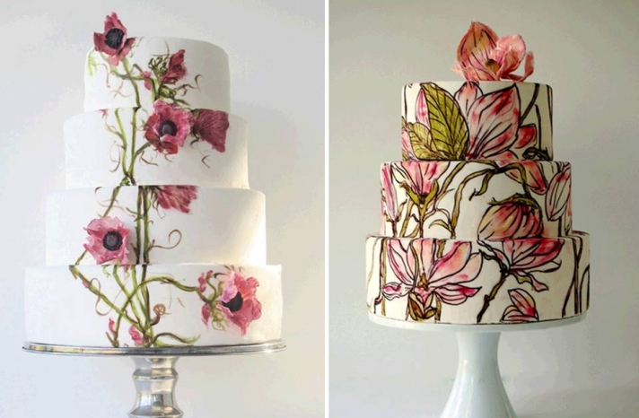 floral-inspired-wedding-cake-bold-pattern-wedding-cakes-ideas