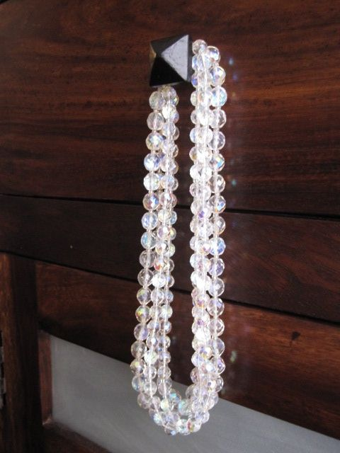 4-strand Swarovski crystal bridal necklace
