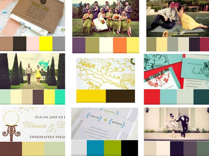 Find the hottest colors and color palettes for 2011 weddings