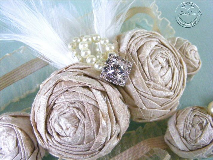 Bespoke wedding garters custom-designed just for the bride!