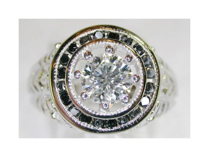 21st century heirloom diamond engagement ring