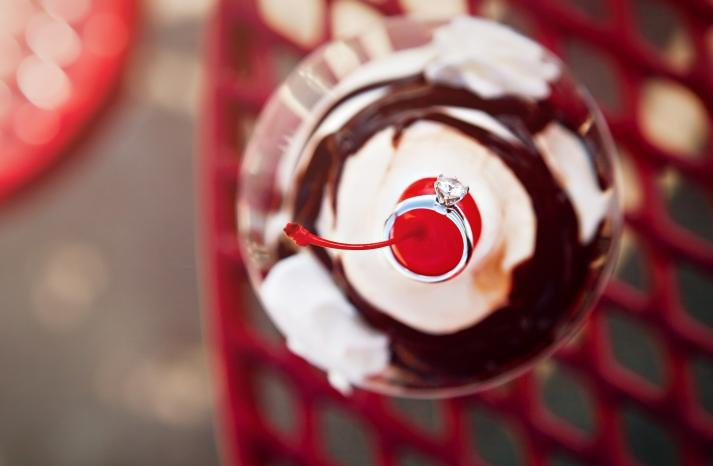 diamond-engagement-ring-round-ice-cream-sunday-photography-e-session