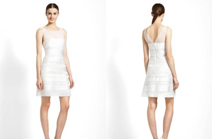 little-white-wedding-dress-rehearsal-dinner-herve-leger-inspired-v-neck-frock