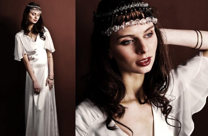 vintage-inspired-white-silk-wedding-dress-flutter-sleeve