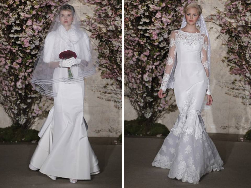 Credit Winter Wedding Style Oscar de la Renta Spring 2012 Bridal via WWD