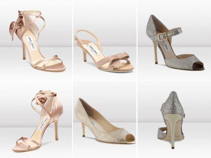 Stylish open-toe bridal heels by Jimmy Choo