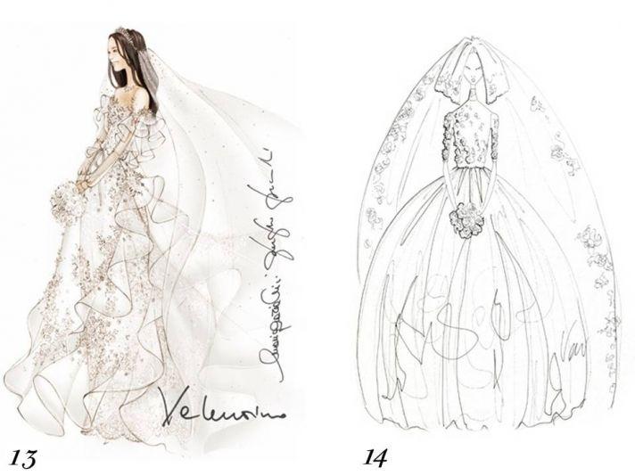 Valentino and Vera Wang sketch Kate Middleton's wedding dress
