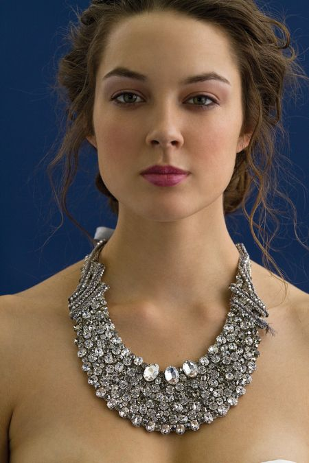 High glam statement bridal necklace with bling galore