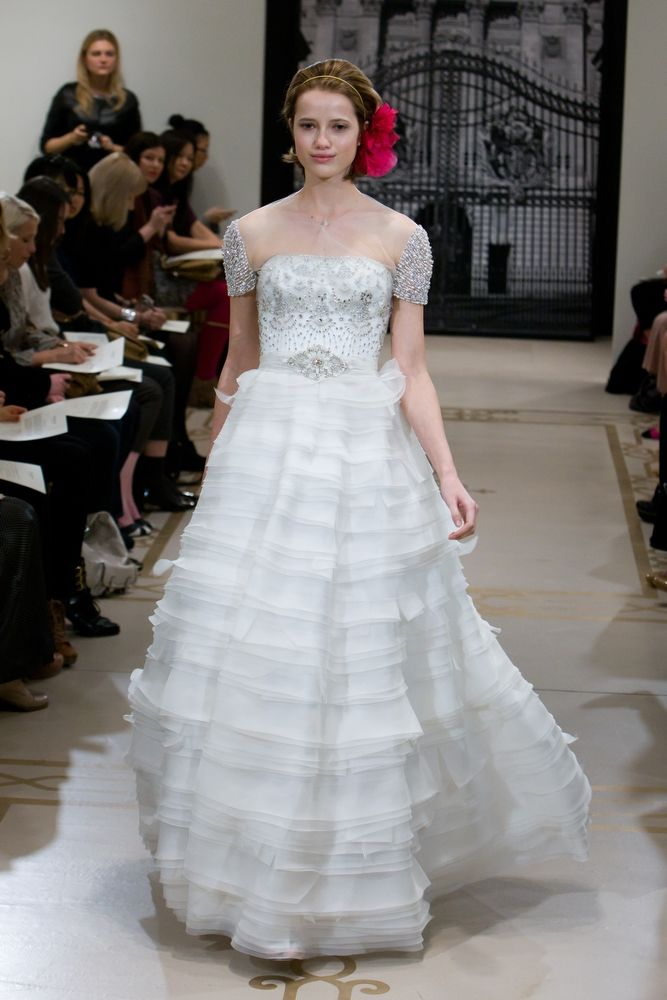 Dramatic royal wedding-inspired ball gown wedding dress by Reem Acra