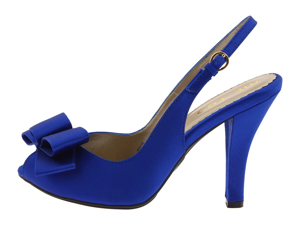 French Sole Women's Logic Sandals in Cobalt Blue Patent Allwshoes