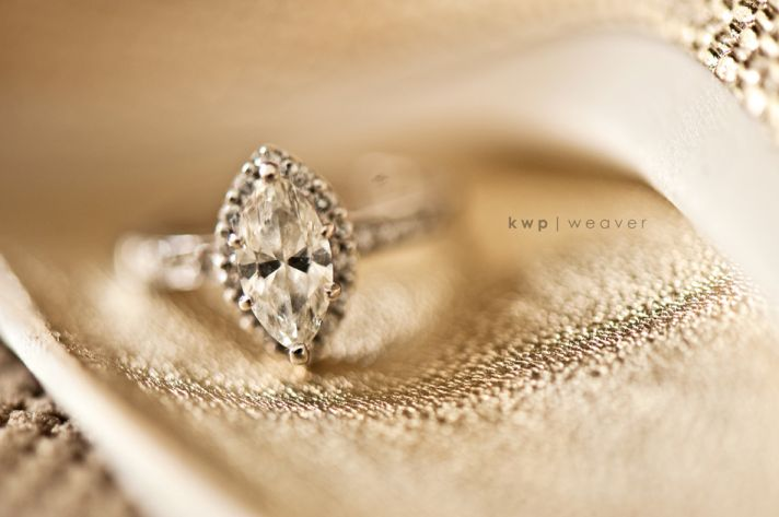 Elegant wedding photography- diamond engagement ring shot