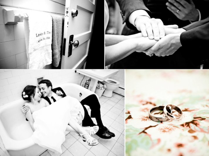 Artistic black and white wedding photography- bride and groom take couples photos, platinum wedding