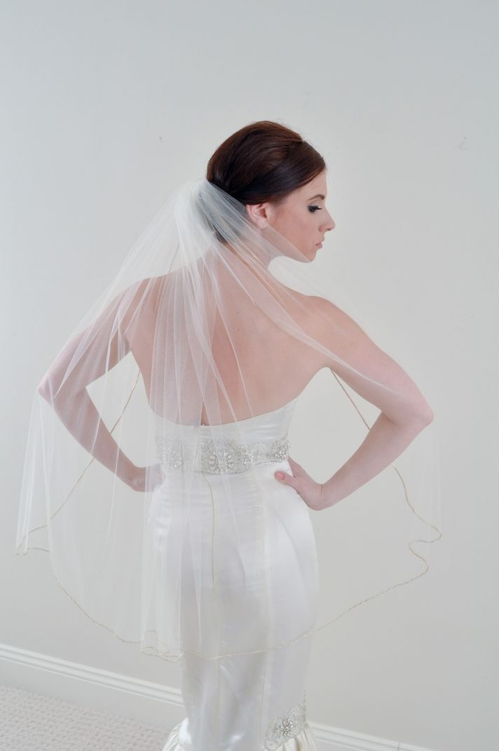 two tier wedding veil hairstyle