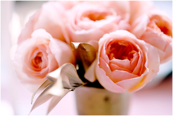 Romantic peach Juliet peony roses for your summer wedding
