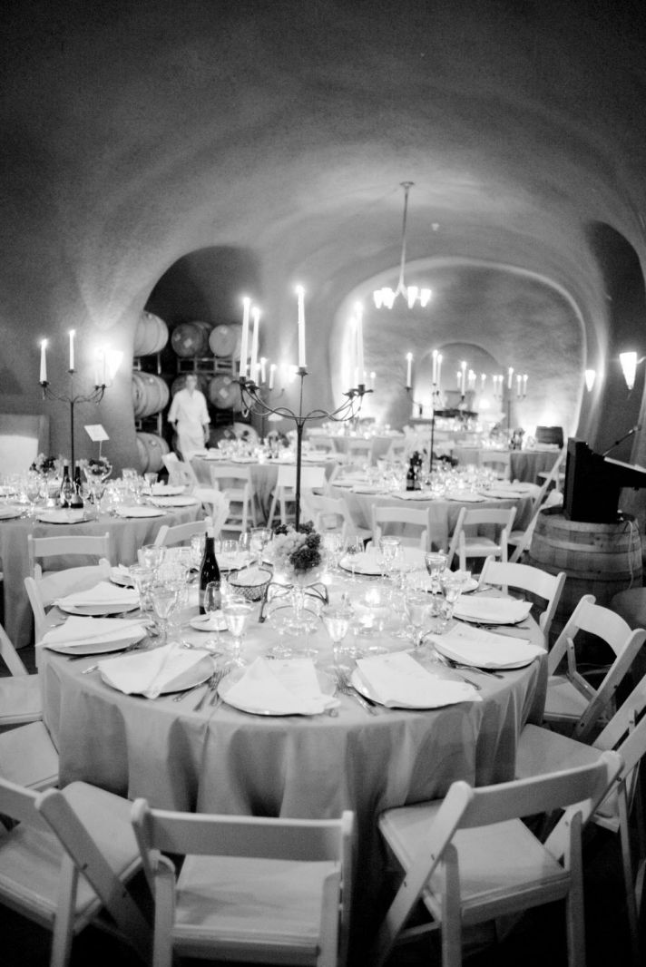 Intimate, romantic wedding venue space at vineyard in Napa, CA