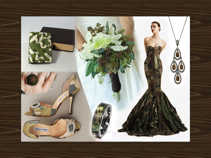 Credit Chic Camouflage Wedding Ideas and Inspiration