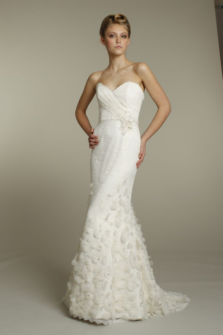 Romantic ivory mermaid wedding dress with sweetheart neckline, Fall 2011 Alvina Valenta bridal gowns