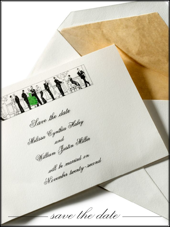 Chic wedding save-the-date by Cartier