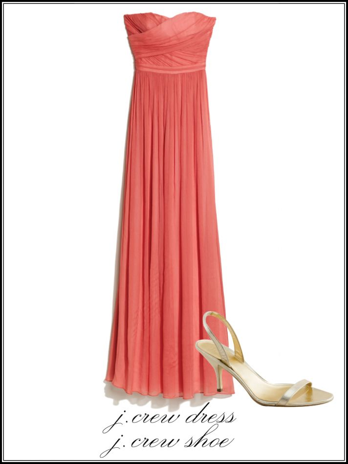 Walk down the aisle with vogue 39 s 2011 wedding guide onewed for Coral wedding bridesmaid dresses
