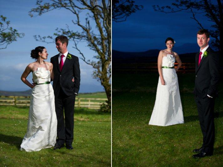 Romantic wedding photos of destination wedding bride and groom