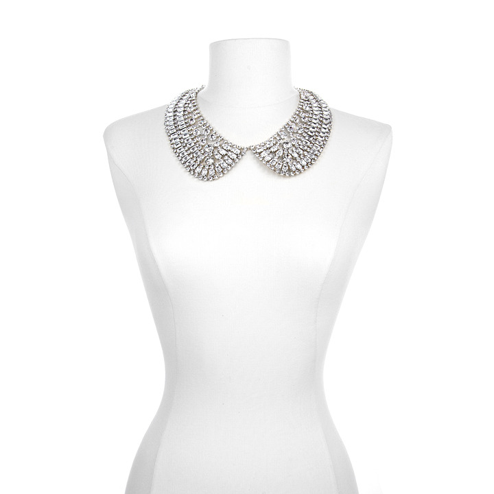 Dazzling statement bridal necklace Credit Crystal chain collar necklace by
