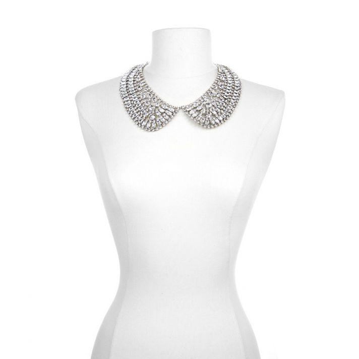 Dazzling statement bridal necklace