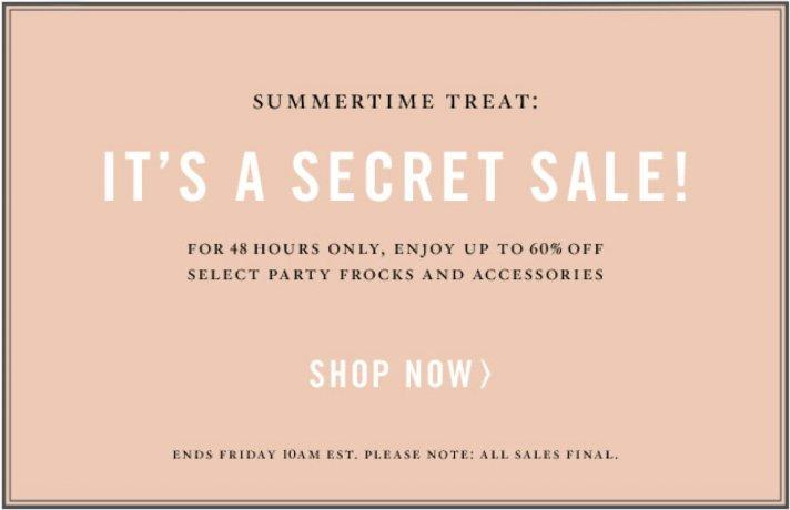 BHLDN's first secret sale is here, 48 hours of HUGE savings!