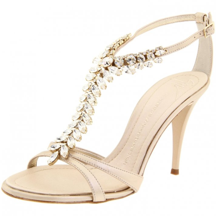 617e77404627 Strappy pink bridal heels by Kate Spade
