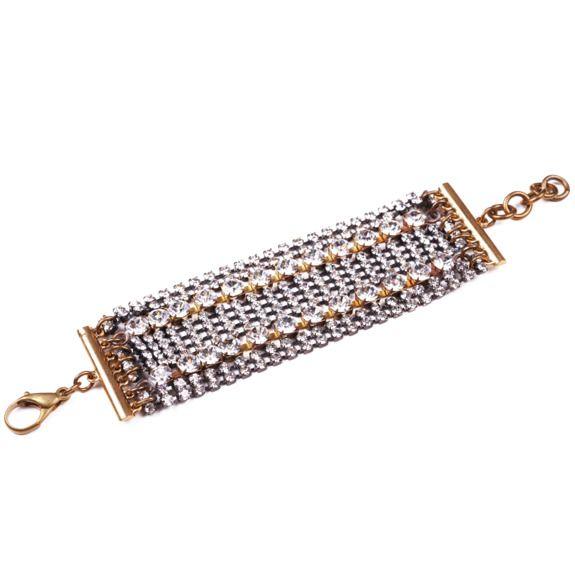 Sparkly rhinestone-encrusted bridal bracelet