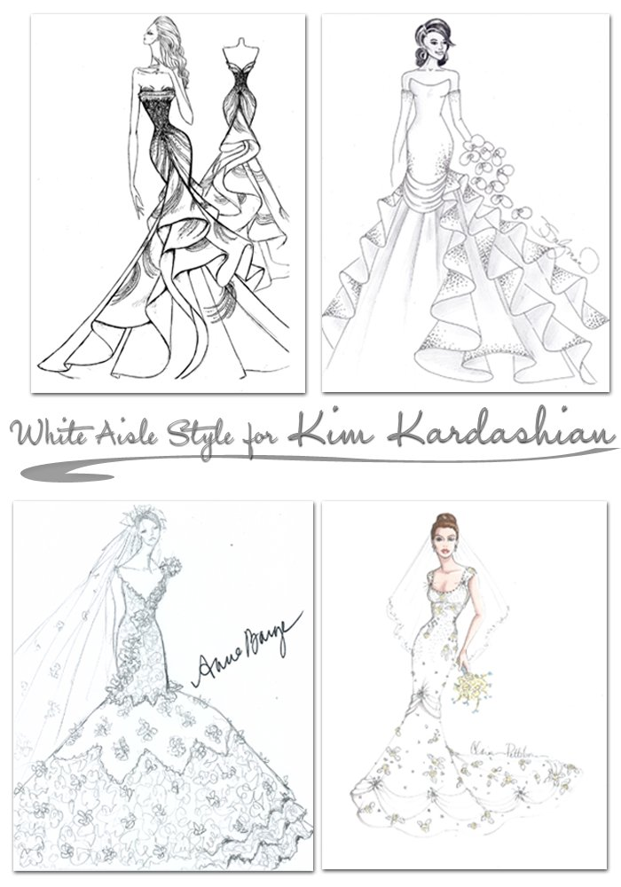 Top designers predict what Kim Kardashian's wedding dress will look like!
