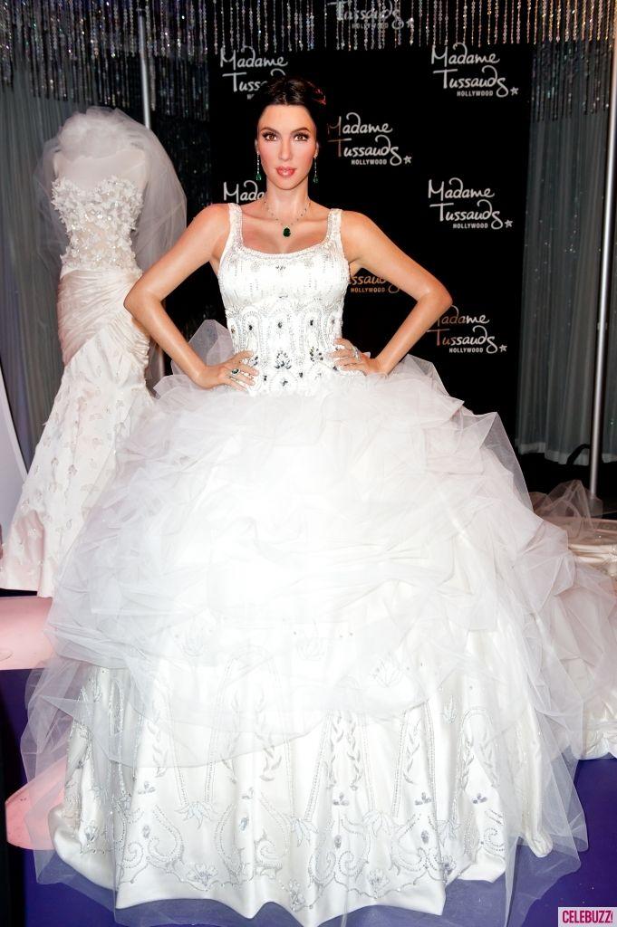 Kim Kardashian, the bride and her ballgown wedding dress