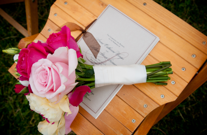 HOT PINK wedding flower inspiration