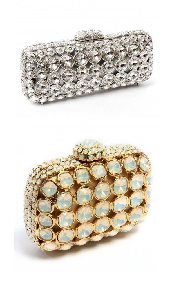 Embellished bridal clutches