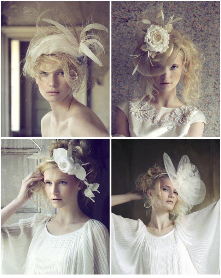 Mini wedding hat via Etsy
